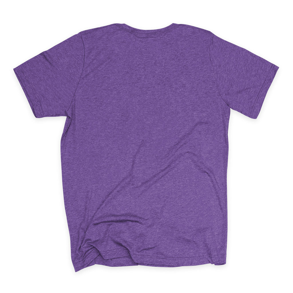 Back of Stick it Wear?! 'LA OPEN' Tennis Crew T-shirt in purple.