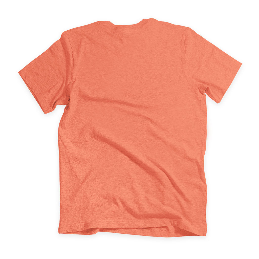 Back of Stick It Wear?! 'MONF DIVER' First Serve Tennis Tee in orange.