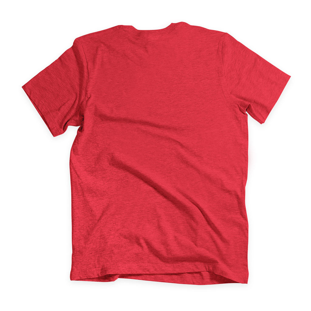 Back of Stick it Wear?! 'MONTREAL OPEN' Tennis Crew T-shirt in red.
