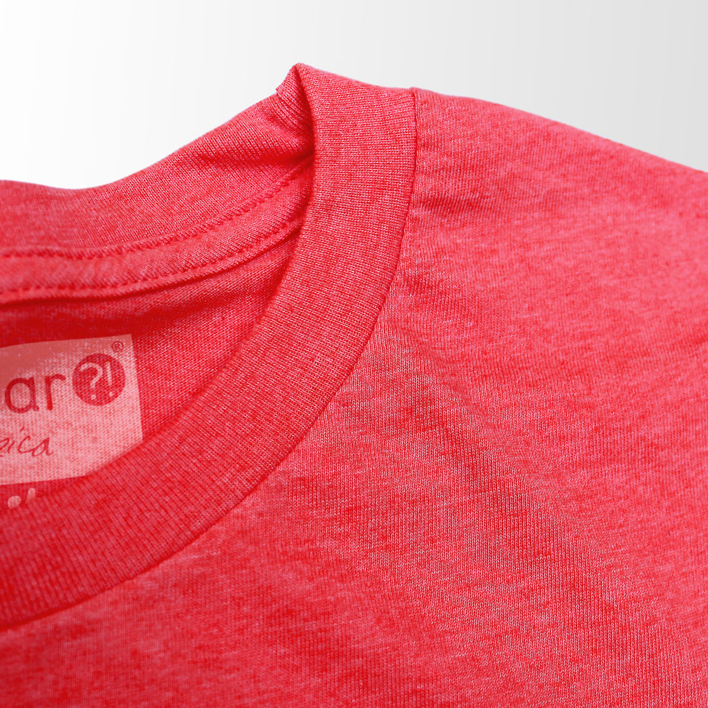 Collar of Stick it Wear?! 'MONTREAL OPEN' Tennis Crew T-shirt in red.