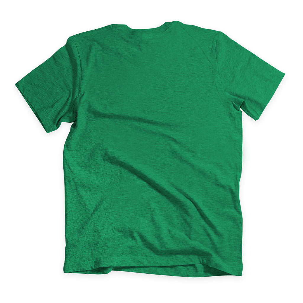 Back of Stick it Wear?! 'NEST' basketball shoot-around t-shirt in green.