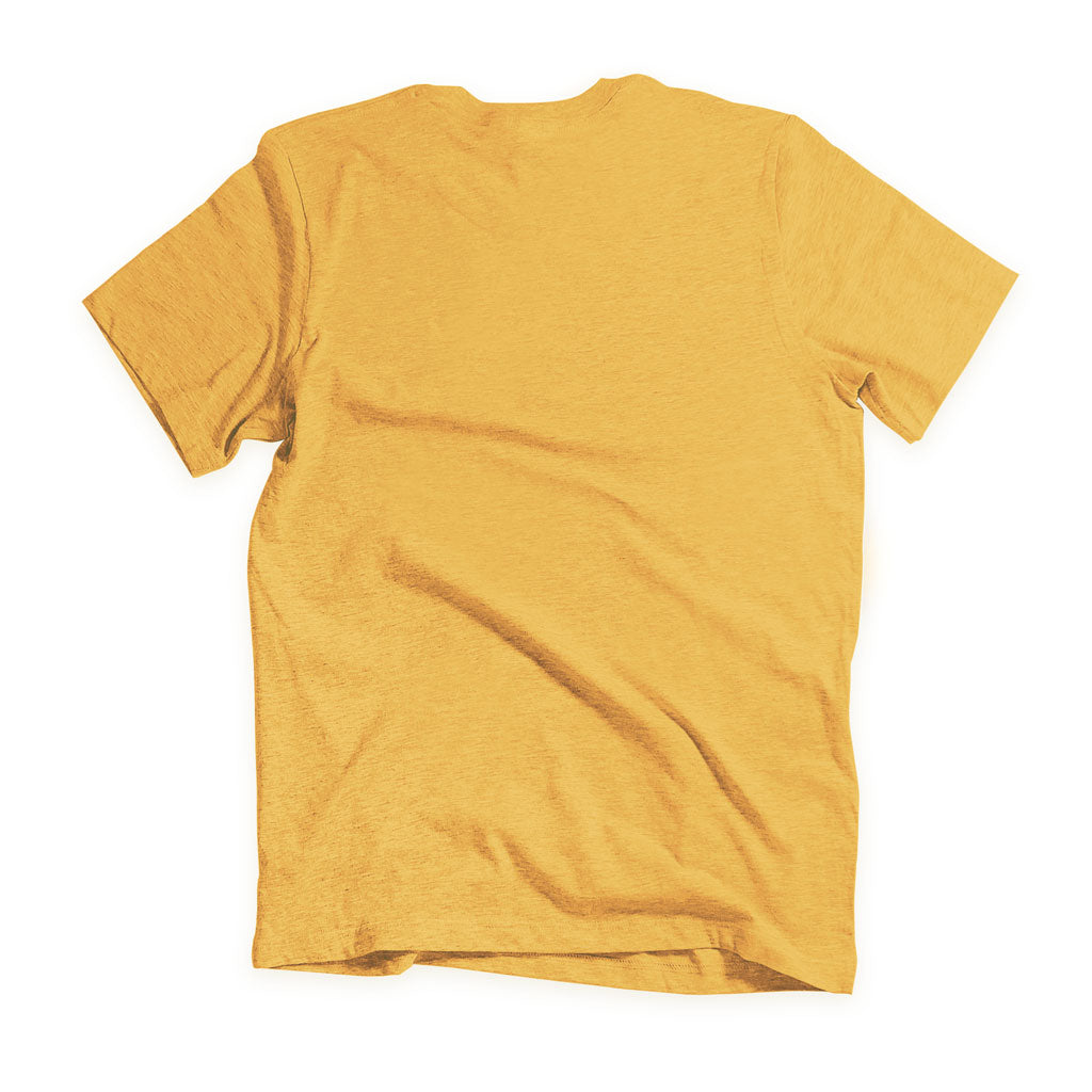 Back of Stick It Wear?! 'NICKERFLICKER' Mens Tennis Tshirt in yellow.
