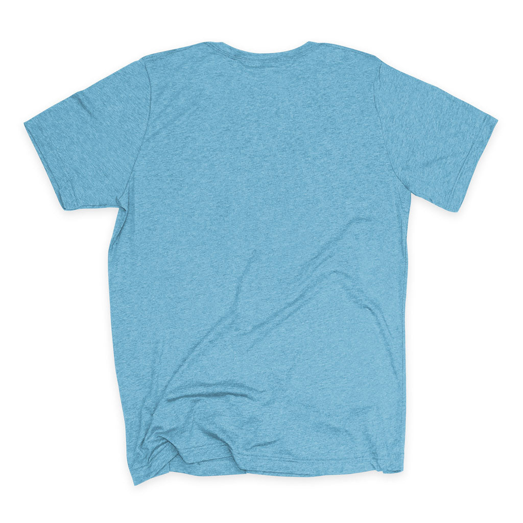 Back of Stick it Wear?! 'PICARD'S FOE' Grasscourt Tennis Graphic Tee in blue.