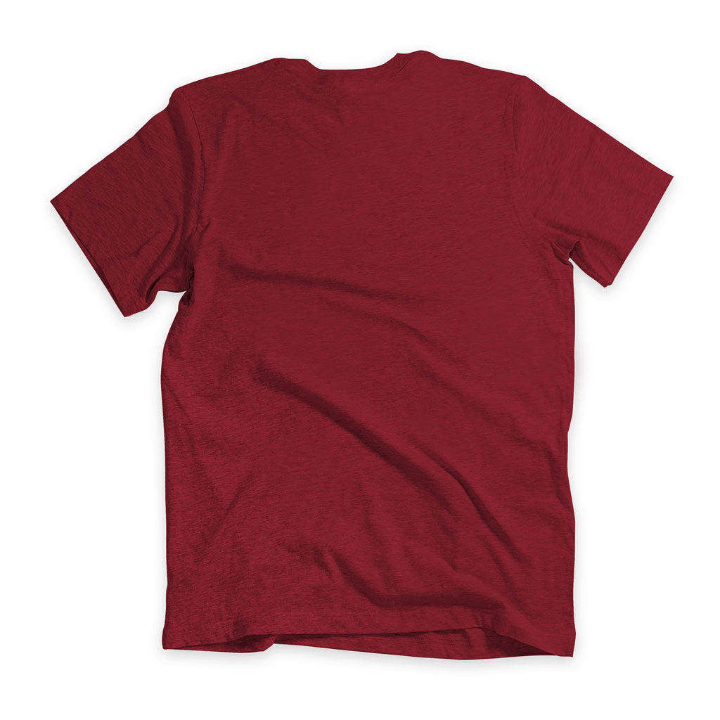 Back of Stick it Wear?! 'ROO BOY' Soccer V-Neck Tee in cardinal.