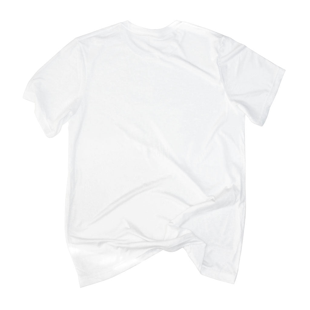 Back of Stick It Wear?! 'SEE RONNIE STEPOVER AGAIN' Soccer V-Neck t-shirt in white.