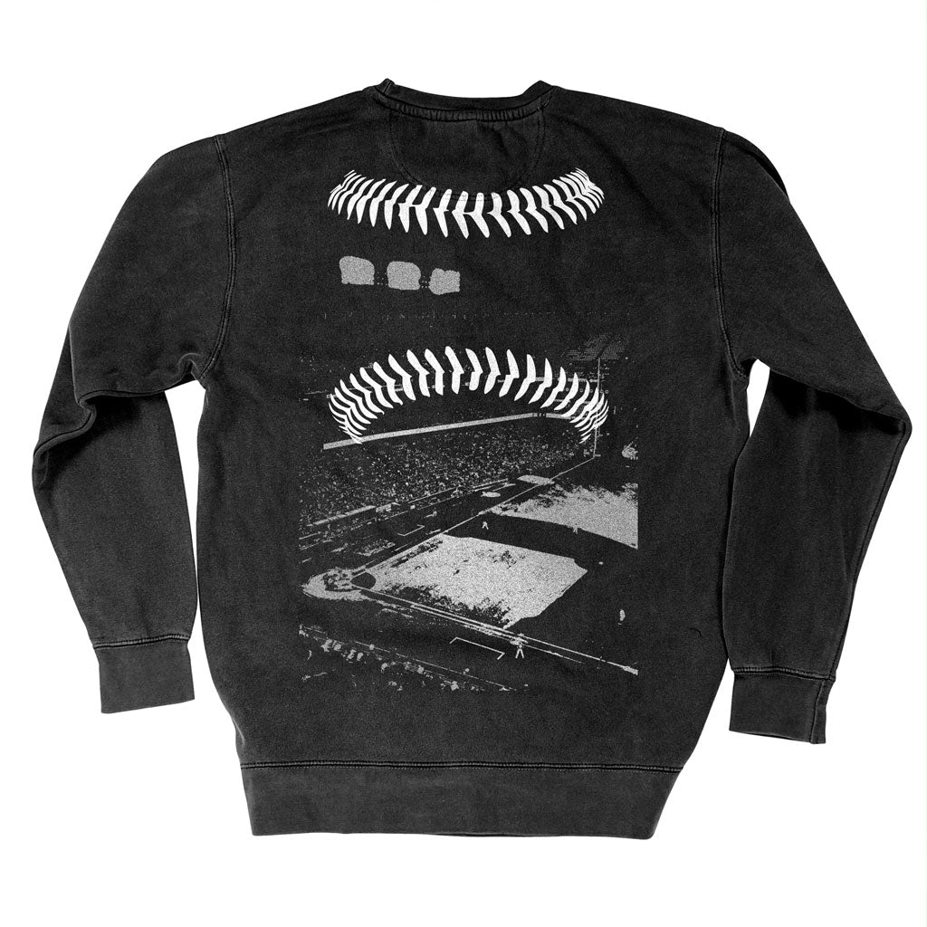 Back of Stick it Wear?! 'SOUTH SIDER' baseball Front Office sweatshirt in black.