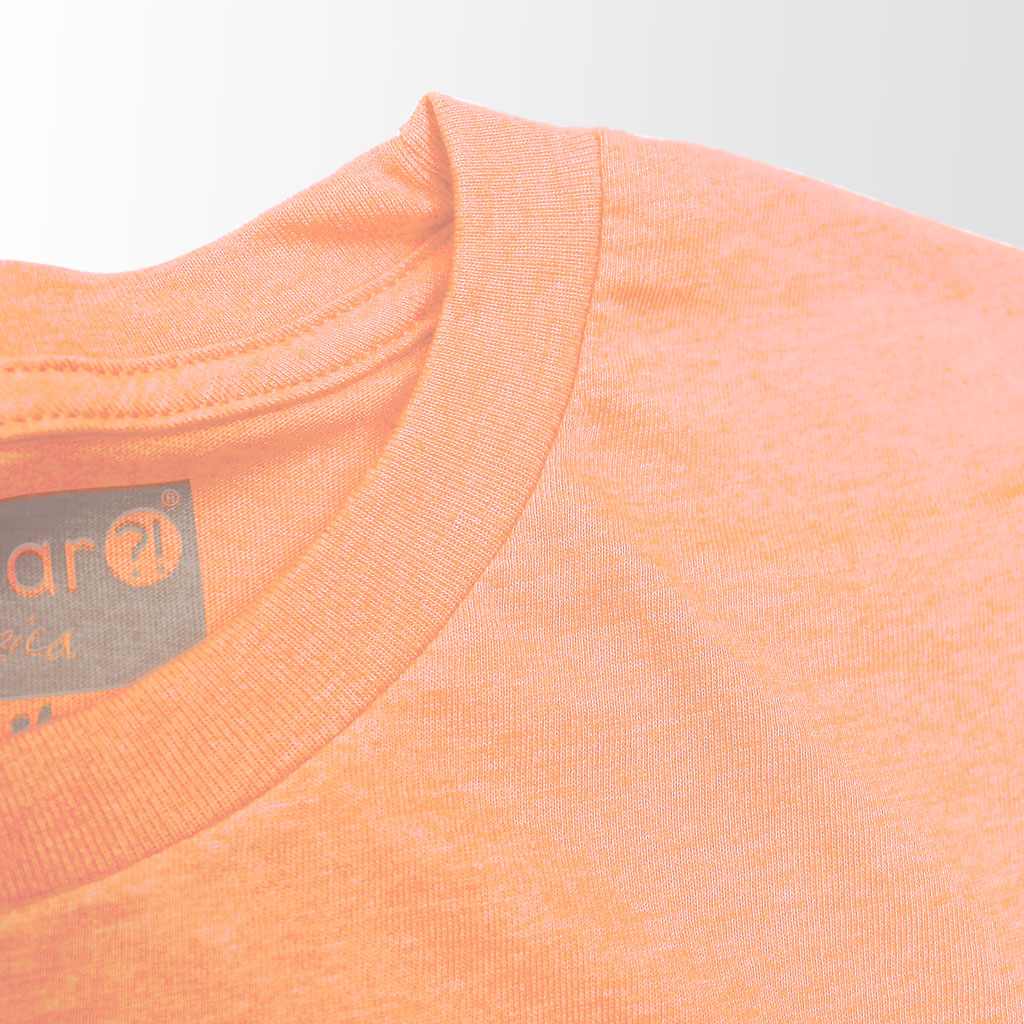 SPACE TENNIS Graphic Tee in sunburst & fluorescent orange
