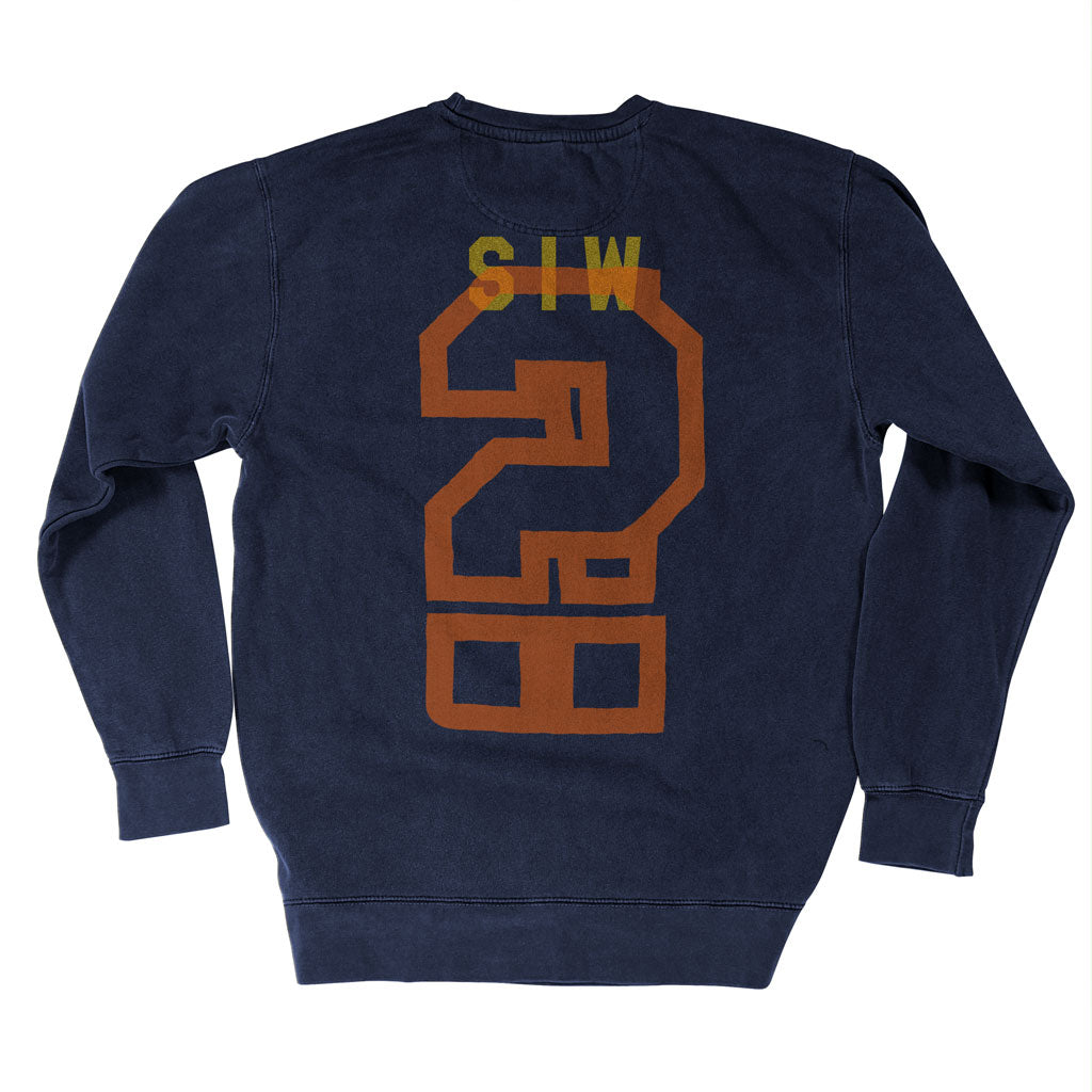 Back of Stick it Wear?! 'SWEET RUN' Football Front Office sweatshirt in navy.