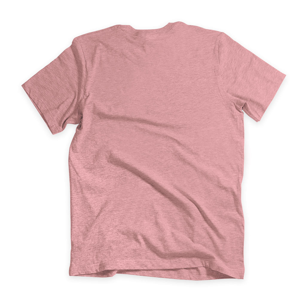Back of Stick it Wear?! 'TEN_NIS' Tennis Crew T-shirt in orchid.