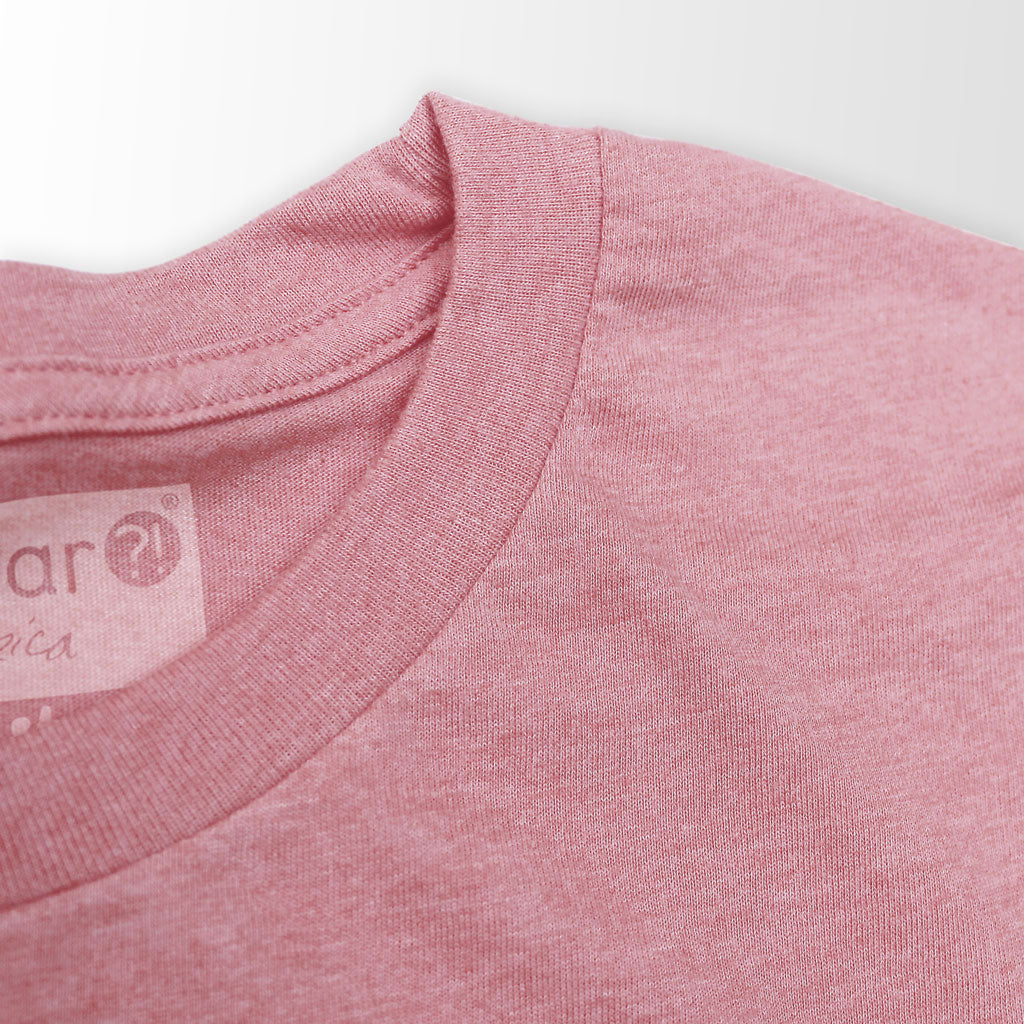 Collar of Stick it Wear?! 'TEN_NIS' Tennis Crew T-shirt in orchid.