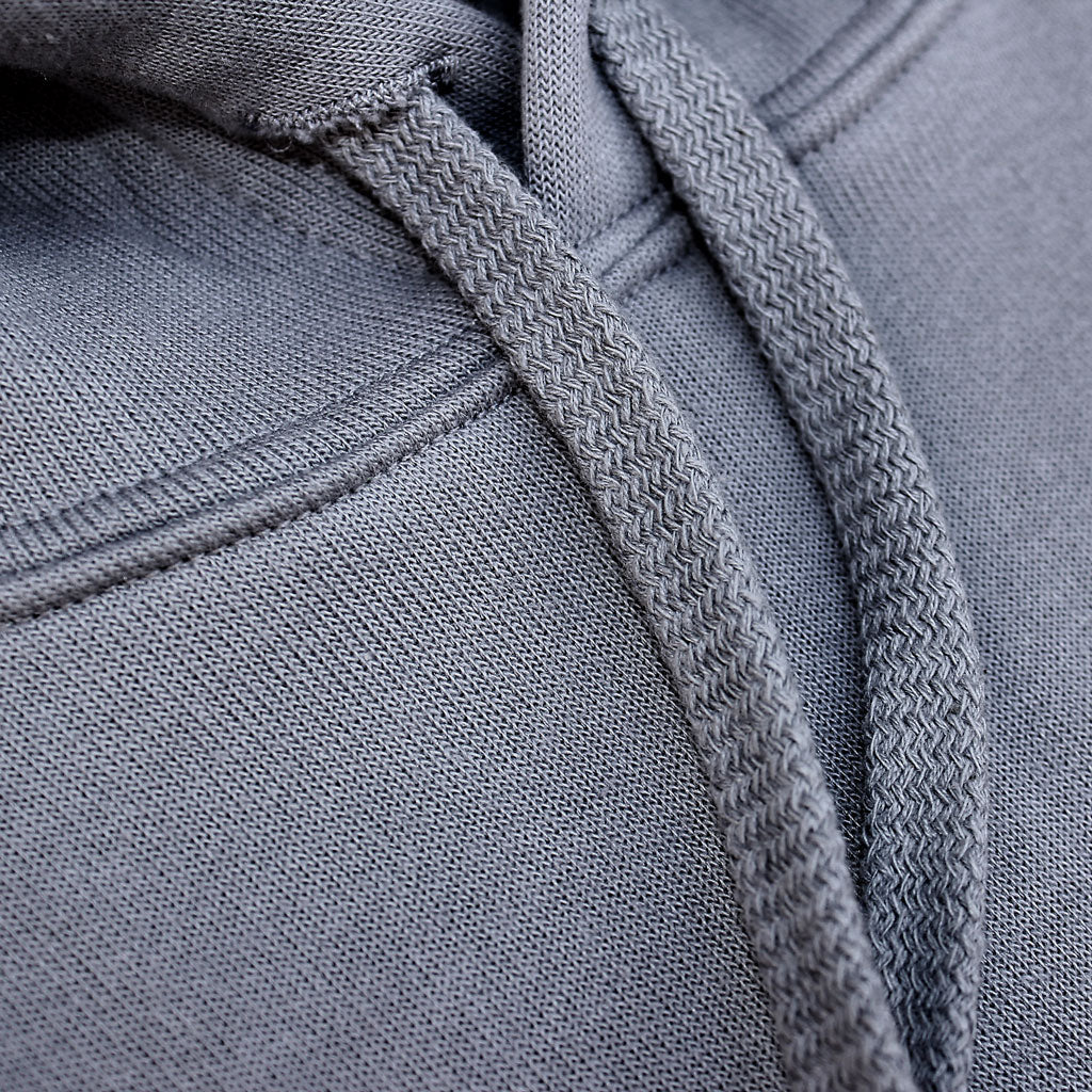Collar of Stick it Wear?! 'PARIS' Womens Cropped Tennis fleece in gray.