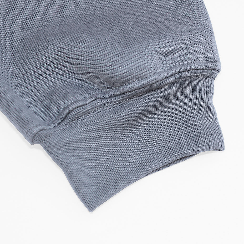 Sleeve of Stick it Wear?! 'PARIS' Womens Cropped Tennis fleece in gray.