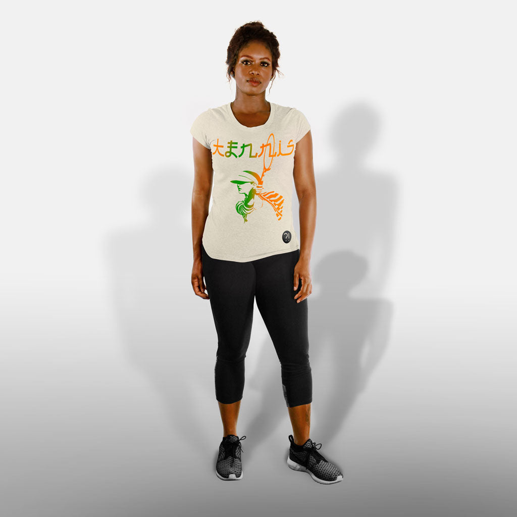 SPACE TENNIS Women's Tee in natural