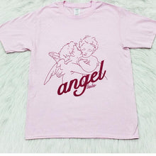 Load image into Gallery viewer, Hillbilly Angel Lover Cute Cotton Women Tee Shirt Graphic Oversize Short Sleeved Round Neck Kawaii Harajuku Ulzzang Pink T-Shirt