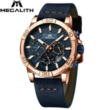 Load image into Gallery viewer, reloj hombre watches MEGALITH sport chronograph waterproof watch men top brand luxury luminous watch men leather horloges mannen
