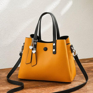 Women PU Leather Handbag Casual Crossbody Bag Yellow Bags Ladies Designer Handbags High Quality Shoulder Bags Female Totes