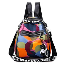 Load image into Gallery viewer, new ladies bear pendant Multifunction backpack high quality youth color backpack girl casual large capacity Bags for women