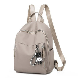 new ladies bear pendant Multifunction backpack high quality youth color backpack girl casual large capacity Bags for women