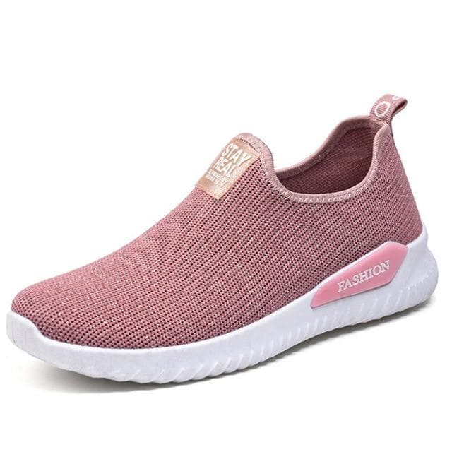 Hot Women Casual Shoes Slip On Black Mesh Breathable Ladies Platform Sneakers Women Trainers Female Running Shoes Tenis Feminino