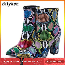 Load image into Gallery viewer, Pointed Toe High Heels Ladies Zip Boots