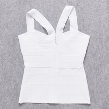 Load image into Gallery viewer, Women Top White Elastic Strap Bandage Vest Tank Tops