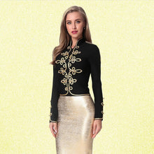 Load image into Gallery viewer, New Fashion Bodycon Women Jacket Long Sleeve Stand Casual Button Zipper Black Sexy Night Club Celebrity Party Coat