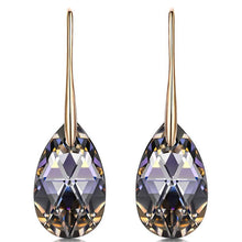 Load image into Gallery viewer, Hermosa 925 Sterling Silver Teardrop Dangle Earrings With Crystals from Swarovski Hypoallergenic Jewelry Gift Box Packing