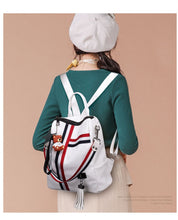 Load image into Gallery viewer, Bags for women 2020 new retro fashion zipper ladies backpack PU Leather high quality school bag shoulder bag for youth