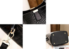 Load image into Gallery viewer, Retro Bucket Crocodile Shoulder Messenger Bags