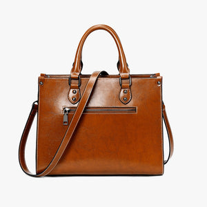 Fashion Genuine Leather Shoulder Bag Women Shopping Tote Office Ladies Handbag Female Messenger Crossbody Top Handle Bag