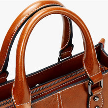 Load image into Gallery viewer, Fashion Genuine Leather Shoulder Bag Women Shopping Tote Office Ladies Handbag Female Messenger Crossbody Top Handle Bag