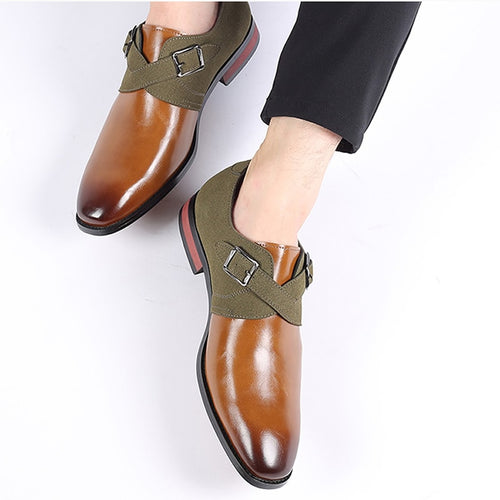 Leather Dress Shoes Men Shoes for Offical Business Casual Shoes Gentleman Formal Shoes