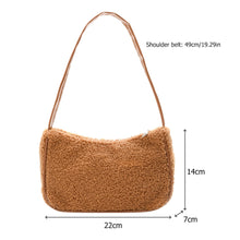 Load image into Gallery viewer, Fashion New Female Square Tote bag Quality Woolen Women's Designer Handbag Ladies Underarm Shoulder Bags