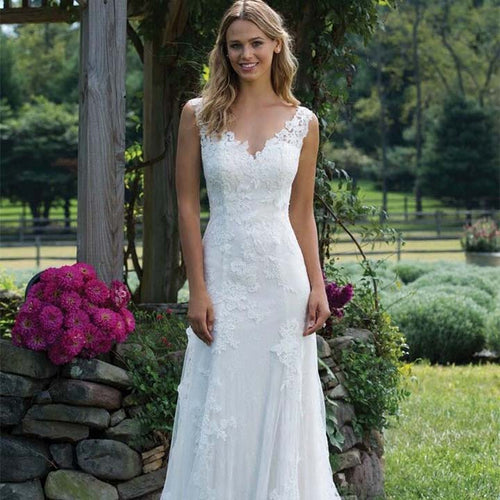Beautiful & Elegant White Lace Mermaid Wedding Dress Train Plus Size Customized Wedding Gown Bride Dress