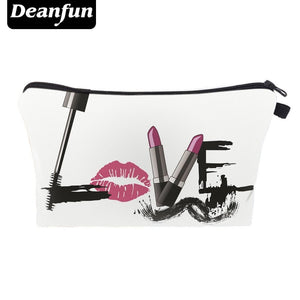 Deanfun 3D Printing Cosmetic Bags LOVE Necessary Travel Women Storage Make Up 41173