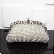Load image into Gallery viewer, Women Evening Bag Luxury Black/Silver Wedding Party shoulder Bag Diamond Rhinestone Clutches Purse Crystal Bling Gold Clutch Bag