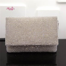 Load image into Gallery viewer, Famous brand design evening bag lady clutch bag bridal party purse rhinestone shoulder bags female shoulder bag women handbag