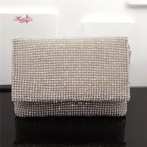 Famous brand design evening bag lady clutch bag bridal party purse rhinestone shoulder bags female shoulder bag women handbag