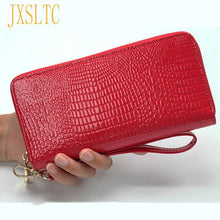 Load image into Gallery viewer, High Quality Women's Purse Red PU Leather Wallet  Female Long Design Clutch Lusury Handbags Women Bags Designer Female Purses