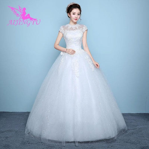 Elegant new hot selling ball gown lace up back formal wedding dress
