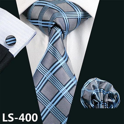 New 40 Styles Men`s Tie 100% Silk Ties Jacquard Woven Gravata Barry.Wang Necktie Hanky Cufflink Sets For Wedding Party Business
