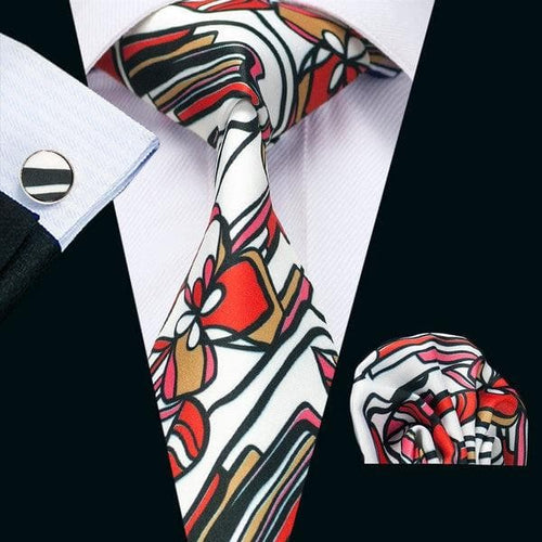 Men Tie Paisley Printed Necktie Gravata Neckwear Barry.Wang Fashion Set Ties For Men Formal Wedding Party Business US-1230