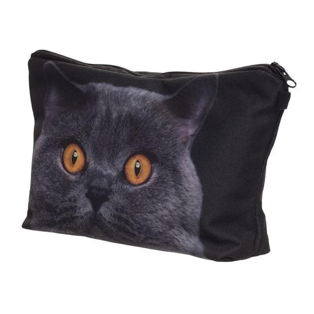 Who Cares printing British shorthair cat Makeup Bags Cosmetic Organizer Bag Pouchs For Travel Lady Pouch Women Cosmetic Bag