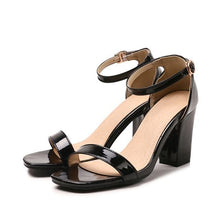 Load image into Gallery viewer, Ankle Strap Heels Women Sandals Summer Shoes Women Open Toe Chunky High Heels Party Dress Sandals Big Size 42 31 32 33 48