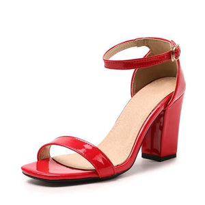 Ankle Strap Heels Women Sandals Summer Shoes Women Open Toe Chunky High Heels Party Dress Sandals Big Size 42 31 32 33 48