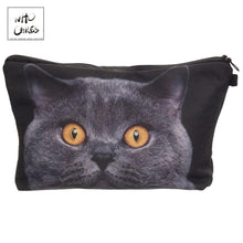 Load image into Gallery viewer, Who Cares printing British shorthair cat Makeup Bags Cosmetic Organizer Bag Pouchs For Travel Lady Pouch Women Cosmetic Bag