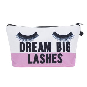 Jom Tokoy cosmetic organizer bag dream big lashes Printing Cosmetic Bag Fashion Women Brand makeup bag