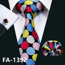 Load image into Gallery viewer, Fashion Navy Polka Dot 100% Silk Tie Barry.Wang Gift Woven Neck Tie For Men Party Business Wedding Free Shipping FA-5095