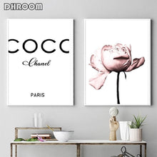 Load image into Gallery viewer, Peony Flower Wall Art Coco Print Fashion Art Poster Blush Pink Canvas Prints Painting Nordic Decoration Living Room Home Decor