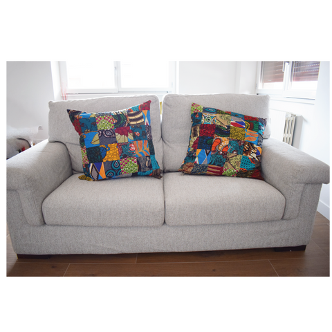 Set of 2 Patchwork Cushion Covers